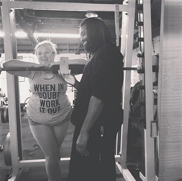 Kewesi with personal training client in Oakland CA