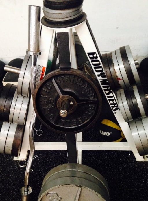 Free weights at KES Fitness
